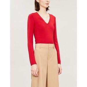 theory v-neck merino wool longsleeve pullover